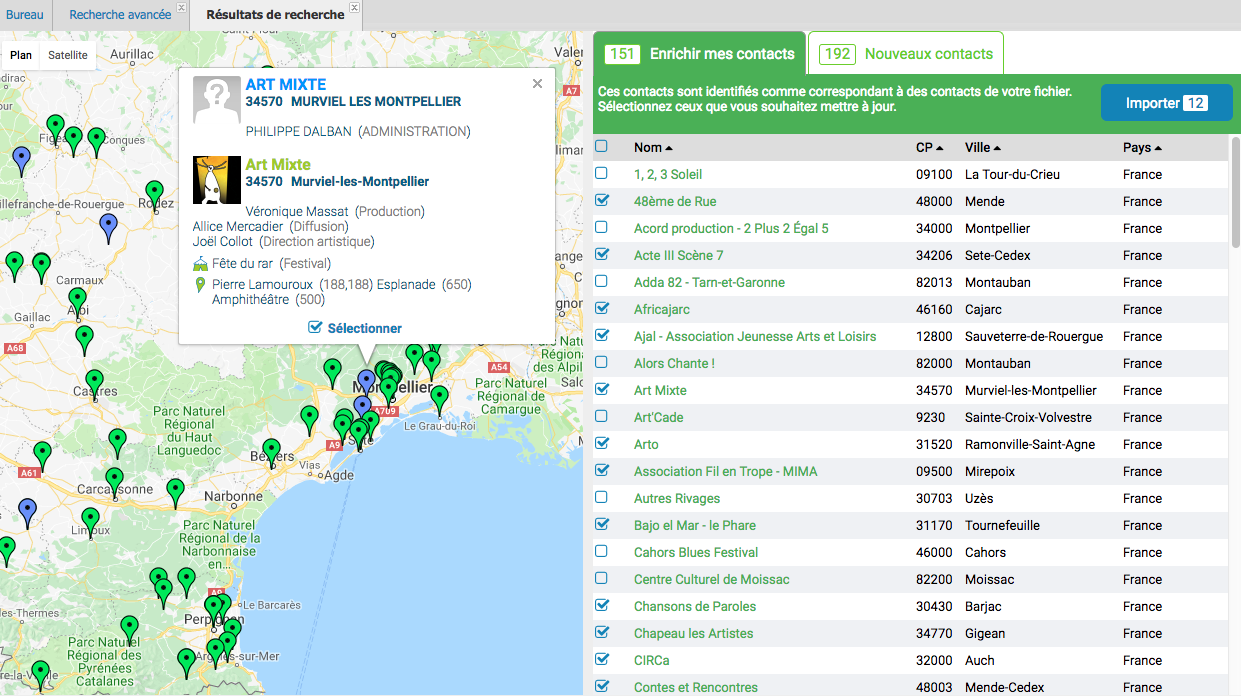 Résultat de recherche Live Data - Bob booking